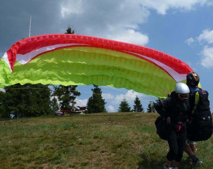 tandemovy let tandem paragliding